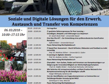 Workshop Soziale und Digitale Lösungen für den Erwerb, Austausch und Transfer von Kompetenzen am 6.3.2018 in Lüneburg